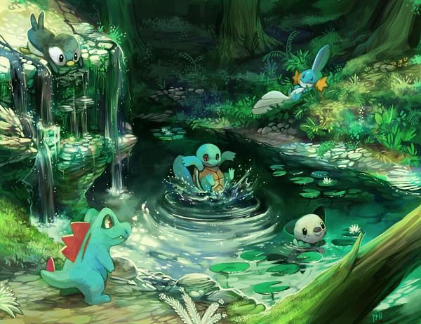 Tags: Anime, Purplekecleon, Pokémon, Totodile, Mudkip, Squirtle, Piplup, Oshawott, deviantART, Starter Pokémon