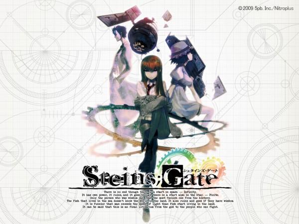 Tags: Anime, Huke, Nitro+, Steins;Gate, Okabe Rintarou, Makise Kurisu, Shiina Mayuri, Satellite, Wallpaper, Official Art, Official Wallpaper, Pixiv