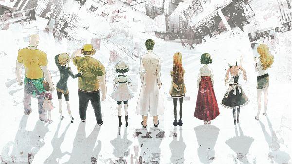 Tags: Anime, Huke, Steins;Gate, Urushibara Ruka, Amane Suzuha, Hashida Itaru, Rumiho Akiha, Shiina Mayuri, Okabe Rintarou, Tennouji Yuugo, Kiryu Moeka, Makise Kurisu, Tennouji Nae