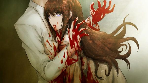 Tags: Anime, Huke, Nitro+, Steins;Gate, Okabe Rintarou, Makise Kurisu, Wallpaper, CG Art, Pixiv, Facebook Cover