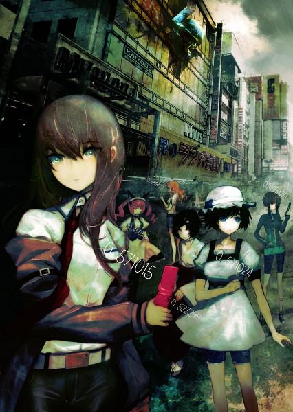 Tags: Anime, Huke, Nitro+, Steins;Gate, Kiryu Moeka, Urushibara Ruka, Amane Suzuha, Rumiho Akiha, Shiina Mayuri, Makise Kurisu, Mobile Wallpaper, Scan, Official Art