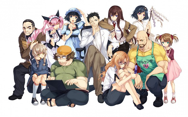 Tags: Anime, KeG, Steins;Gate, Tennouji Yuugo, Okabe Rintarou, Tennouji Nae, Makise Kurisu, Urushibara Ruka, Amane Suzuha, Rumiho Akiha