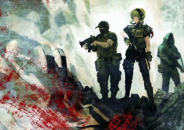 Tags: Anime, Huke, Nitro+, Steins;gate Visual Works, Steins;Gate, Amane Suzuha, Comic Market 78, Official Art, Scan