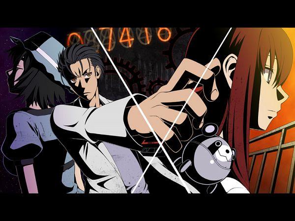 Tags: Anime, Pixiv Id 1026429, Steins;Gate, Shiina Mayuri, Okabe Rintarou, Makise Kurisu, Pixiv, Fanart