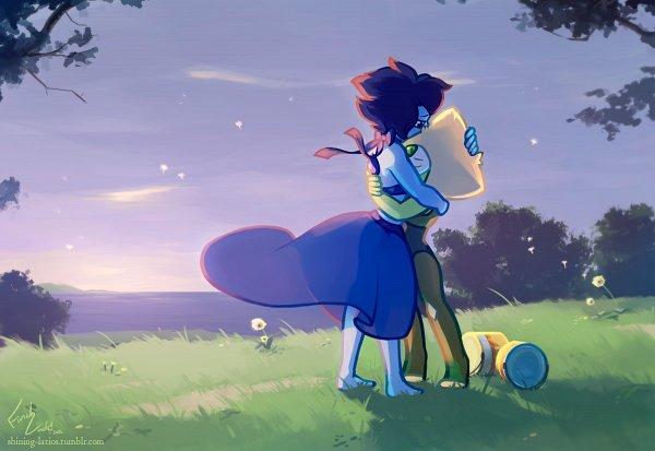 Tags: Anime, Shining Latios, Steven Universe, Lapis Lazuli (Steven Universe), Peridot (Steven Universe), Tumblr, Fanart From Tumblr, Fanart