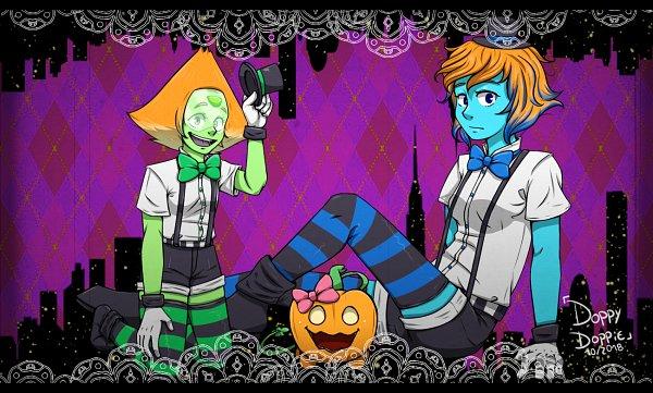 Tags: Anime, Steven Universe, Lapis Lazuli (Steven Universe), Peridot (Steven Universe), Hachi-p, Mrs. Pumpkin no Kokkei na Yume