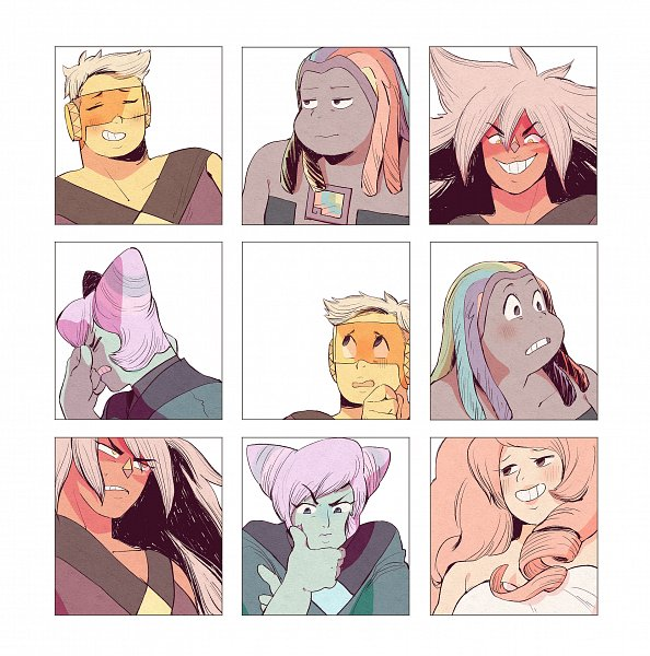 Tags: Anime, Pixiv Id 3942950, Steven Universe, Rose Quartz, Topaz (Steven Universe), Holly Blue Agate, Bismuth (Steven Universe), Jasper (Steven Universe)