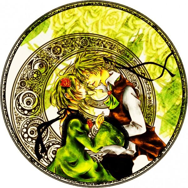 Tags: Anime, Pixiv Id 1359353, VOCALOID, Kagamine Len, Kagamine Rin, Yellow, Akuno-p, Pixiv, Story of Evil, Fanart, Kagamine Mirrors