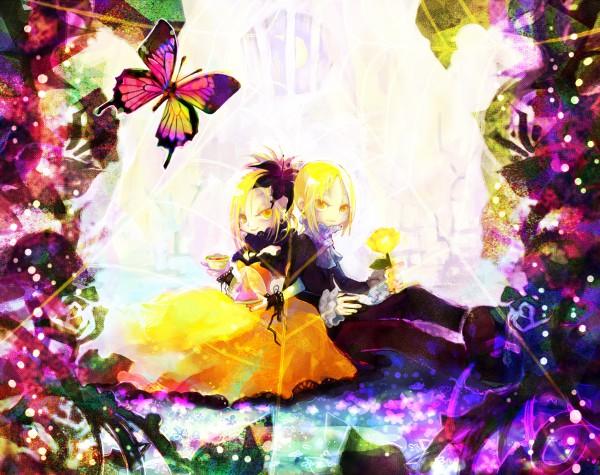 Tags: Anime, Pixiv Id 152795, VOCALOID, Kagamine Len, Kagamine Rin, Akuno-p, Story of Evil, Kagamine Mirrors