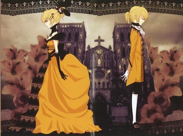Tags: Anime, Yunomi, VOCALOID, Kagamine Len, Kagamine Rin, Church, Akuno-p, Story of Evil, Kagamine Mirrors