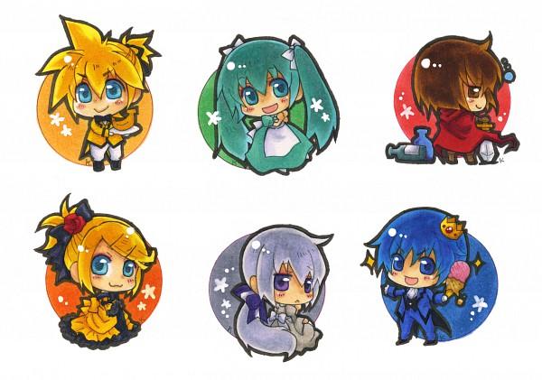 Tags: Anime, Yagami1374, VOCALOID, Hatsune Miku, KAITO, Kagamine Len, Kagamine Rin, Yowane Haku, MEIKO (VOCALOID), Pixiv, Akuno-p, Story of Evil, Daughter of White