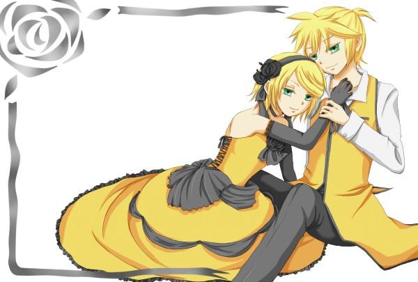 Tags: Anime, Pixiv Id 655623, VOCALOID, Kagamine Len, Kagamine Rin, Yellow, Story of Evil, Akuno-p, Kagamine Mirrors