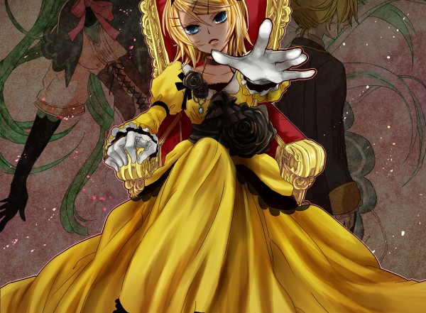 Tags: Anime, Painter Brioche, VOCALOID, Kagamine Len, Kagamine Rin, Hatsune Miku, Story of Evil, Akuno-p, Daughter of White