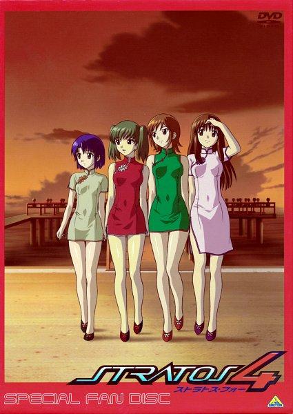 Tags: Anime, Stratos 4, Honjou Mikaze, Kikuhara Karin, Nakamura Ayamo, Doi Shizuha, DVD (Source), Official Art, Scan