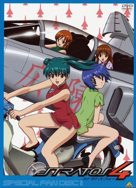 Tags: Anime, Stratos 4, Doi Shizuha, Honjou Mikaze, Kikuhara Karin, Nakamura Ayamo, Scan, DVD (Source), Official Art