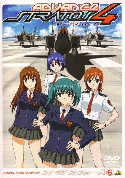 Tags: Anime, Stratos 4, Nakamura Ayamo, Doi Shizuha, Honjou Mikaze, Kikuhara Karin, Official Art, Scan, DVD (Source)