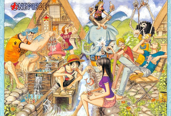 Tags: Anime, Oda Eiichirou, ONE PIECE, Usopp, Nami (ONE PIECE), Roronoa Zoro, Nico Robin, Tony Tony Chopper, Franky, Monkey D. Luffy, Sanji, Brook, Elephant