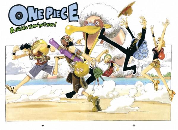 Tags: Anime, Oda Eiichirou, ONE PIECE, Color Walk 2, Monkey D. Luffy, Usopp, Roronoa Zoro, Sanji, Nami (ONE PIECE), Official Art, Straw Hat Pirates