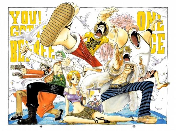 Tags: Anime, Oda Eiichirou, ONE PIECE, Color Walk 3 - Lion, Monkey D. Luffy, Usopp, Roronoa Zoro, Sanji, Tony Tony Chopper, Nami (ONE PIECE), Heavy Point, Hito Hito No Mi, Official Art