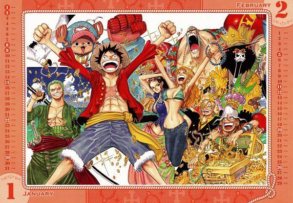 Tags: Anime, Oda Eiichirou, ONE PIECE, Nami (ONE PIECE), Brook, Roronoa Zoro, Nico Robin, Tony Tony Chopper, Franky, Monkey D. Luffy, Sanji, Usopp, Gold (Metal)