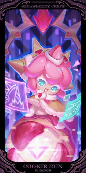 Tags: Anime, Pixiv Id 4475060, Cookie Run: Kingdom, Cookie Run, Strawberry Crepe Cookie, 1000x2000 Wallpaper, 1:2 Ratio, Pixiv, Mobile Wallpaper, Wallpaper, Fanart, Fanart From Pixiv
