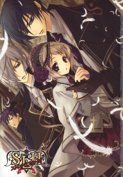 Tags: Anime, Shouoto Aya, Stray Love Hearts, Minemitsu Yamashina, Hiyoki Kozue, Cain Kumoide, Shizuka Uryu, Mobile Wallpaper