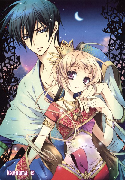 Tags: Anime, Shouoto Aya, Stray Love Hearts, Hiyoki Kozue, Cain Kumoide, Mobile Wallpaper, Official Art