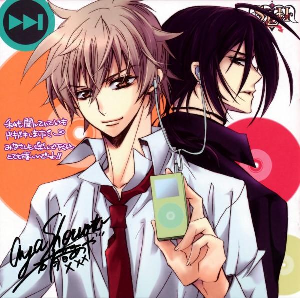 Tags: Anime, Shouoto Aya, Stray Love Hearts, Ichikawa Ren, Kuga Reizei, iPod, Official Art