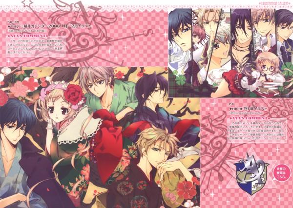 Tags: Anime, Shouoto Aya, Stray Love Hearts, Cain Kumoide, Minemitsu Yamashina, Ichikawa Ren, Miki Uegaito, Hiyoki Kozue, Hijiri Asukai, Kuga Reizei, Kito Ninomiya, Reverse Harem