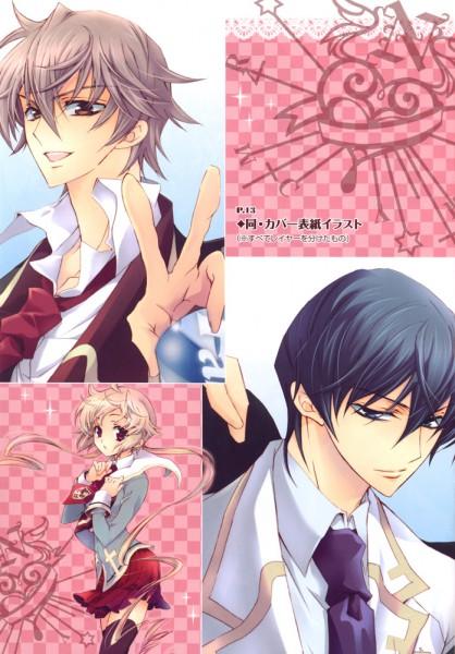 Tags: Anime, Shouoto Aya, Stray Love Hearts, Cain Kumoide, Ichikawa Ren, Hiyoki Kozue, Mobile Wallpaper