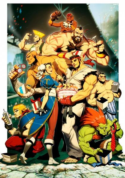 Tags: Anime, GENZOMAN, Street Fighter, Sagat, Chun-Li, Ken Masters, E. Honda, Blanka, Ryuu (Street Fighter), Guile, Zangief, Dhalsim