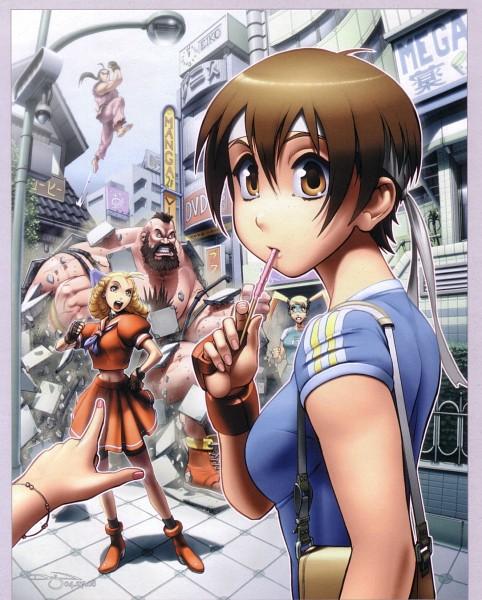 Tags: Anime, Rival Schools, Street Fighter, Kasugano Sakura, Zangief, Hibiki Dan, Rainbow Mika, Kanzuki Karin