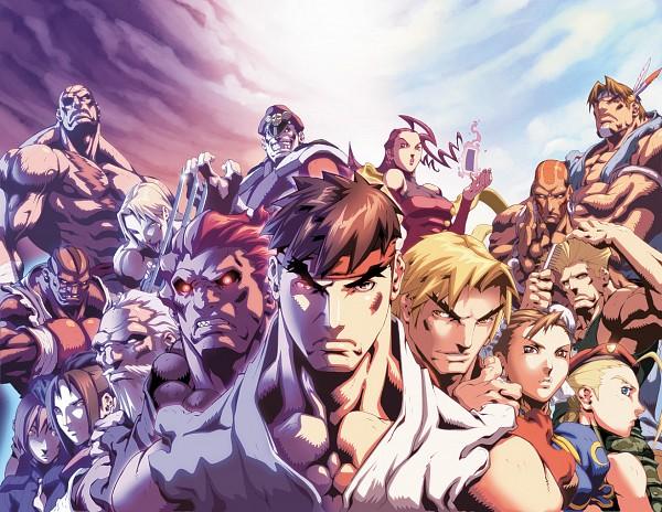Tags: Anime, Street Fighter, Guile, Balrog (Street Fighter), Ryuu (Street Fighter), Dhalsim, Rose (Street Fighter), Ken Masters, Cammy White, Vega, Chun-Li, M. Bison, Gouki