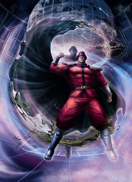 Tags: Anime, Capcom, Street Fighter, M. Bison, Official Art