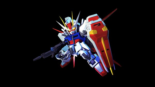 Tags: Anime, Bandai Namco Entertainment, Mobile Suit Gundam SEED, SD Gundam G Generation, Strike Gundam, Wallpaper, Gundams