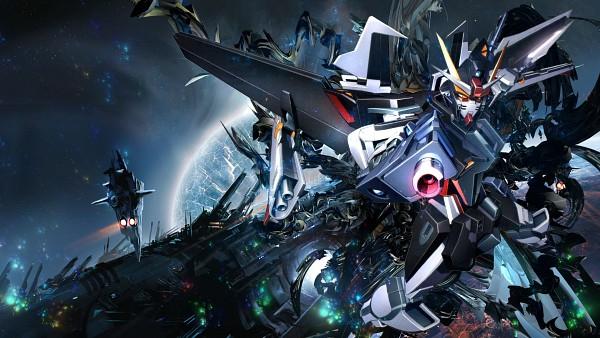 Tags: Anime, Mobile Suit Gundam SEED, Mobile Suit Gundam SEED Destiny, Mobile Suit Gundam SEED C.E. 73: STARGAZER, Strike Noir, HD Wallpaper, Fanmade Wallpaper, Wallpaper, Edited, Gundams