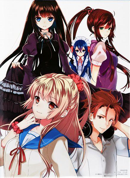 Tags: Anime, Manya (Mohu Is-mine), Strike The Blood, Yaze Motoki, Aiba Asagi, Kirasaka Sayaka, Astarte (Strike The Blood), Minamiya Natsuki, Scan, Official Art