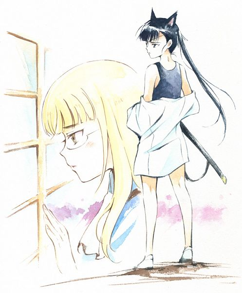Tags: Anime, Agahari, Strike Witches, Sakamoto Mio, Perrine H. Clostermann, Traditional Media, Fanart, Pixiv