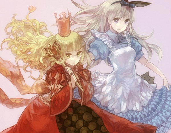 Tags: Anime, Pixiv Id 1070722, Strike Witches, Alice in Wonderland, Eila Ilmatar Juutilainen, Perrine H. Clostermann, Alice (Alice in Wonderland) (Cosplay), Scepter, Queen of Hearts (Cosplay)