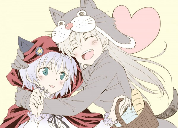 Tags: Anime, Agahari, Strike Witches, Red Riding Hood, Eila Ilmatar Juutilainen, Sanya V. Litvyak, Fanart From Pixiv, Fanart, Pixiv