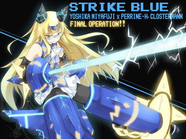 Tags: Anime, Hatsumi Nekuta, Strike Witches, Miyafuji Yoshika, Perrine H. Clostermann, Vividred Operation (Parody), Character Fusion