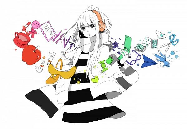 Tags: Anime, Saitamax, VOCALOID, Dani, Smiley Face, Paper Airplane, Strobe Last, Ustream Checker, Pixiv