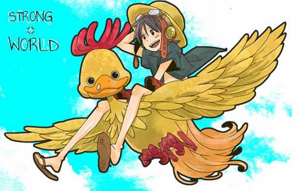 Tags: Anime, ONE PIECE, Strong World, Monkey D. Luffy, Biri, Artist Request, Fanart, Straw Hat Pirates
