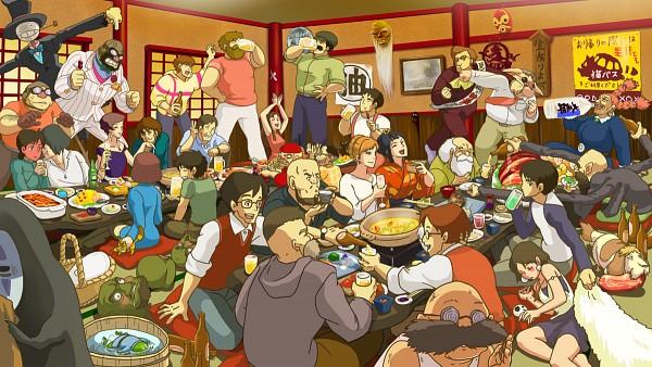 Tags: Anime, Takase (Harakiri), Studio Ghibli, Sen to Chihiro no Kamikakushi, Majo no Takkyuubin, Tonari no Totoro, Howl no Ugoku Shiro, Tenkuu no Shiro Laputa, Kaze no Tani no Nausicaä, Mononoke Hime, Kurenai no Buta, Dola (Tenkuu no Shiro Laputa), Haku (Sen to Chihiro no Kamikakushi)