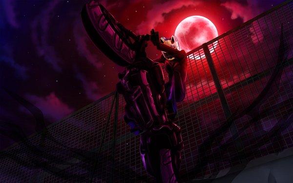 Tags: Anime, DURARARA!!, Shooter (Durarara!!), Sturluson Celty, Motorcycle Helmet, 2560x1600 Wallpaper, Red Moon, Wallpaper, Fanart, HD Wallpaper, Artist Request