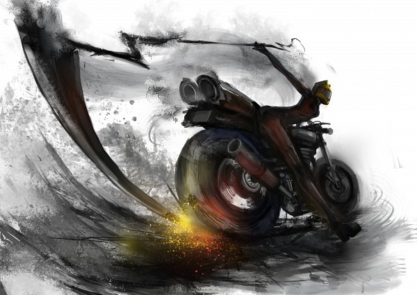 Tags: Anime, M874, DURARARA!!, Sturluson Celty, Shooter (Durarara!!), Motorcycle Helmet, Fanart