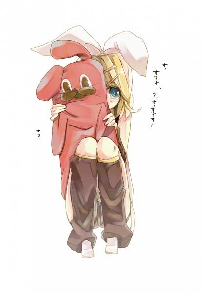 Tags: Anime, Pixiv Id 1876346, VOCALOID, Kagamine Rin, Mobile Wallpaper, Su-Su-Su-Su Suki Daisuki, I Like You I Love You
