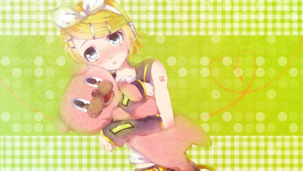 Tags: Anime, Tottsuan, VOCALOID, Kagamine Rin, Wallpaper, Su-Su-Su-Su Suki Daisuki, I Like You I Love You