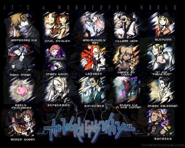 Tags: Anime, Amano Shiro, Subarashiki Kono Sekai, Daisukenojo Bito, Neku Sakuraba, Raimu Bito, Yoshiya Kiryu, Sho Minamimoto, Shiki Misaki, Hand on Headphones, The World Ends With You