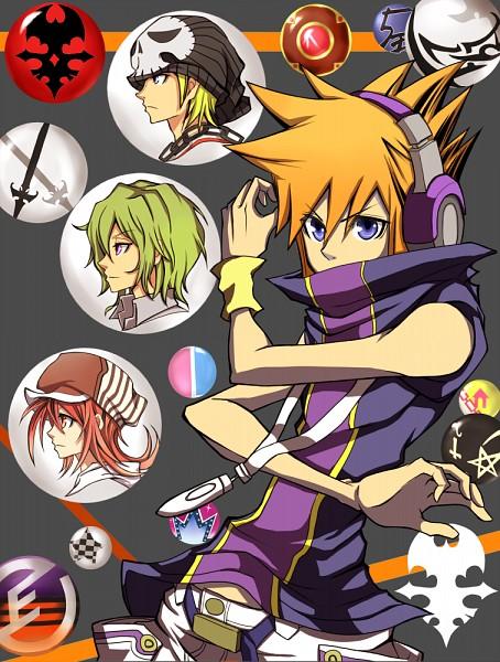 Tags: Anime, Pixiv Id 3459948, Subarashiki Kono Sekai, Neku Sakuraba, Raimu Bito, Shiki Misaki, Daisukenojo Bito, Fanart From Pixiv, Pixiv, Fanart, The World Ends With You